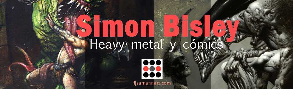Simon Bisley, Heavy metal y cómics