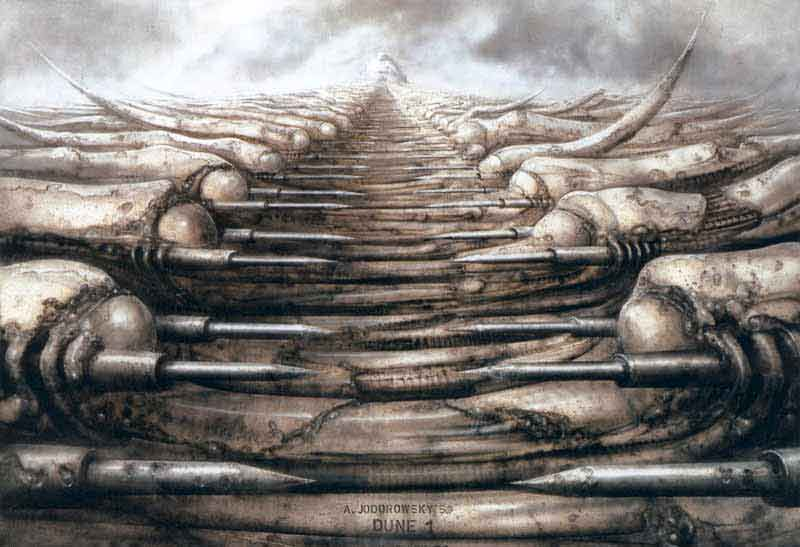 H.R. Giger paisaje de estilo biomecánico